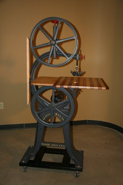 Figure 3. A circa 1897 20-inch Crescent Band Saw that is branded with the Silver Manufacturing Co. name cast into the base.