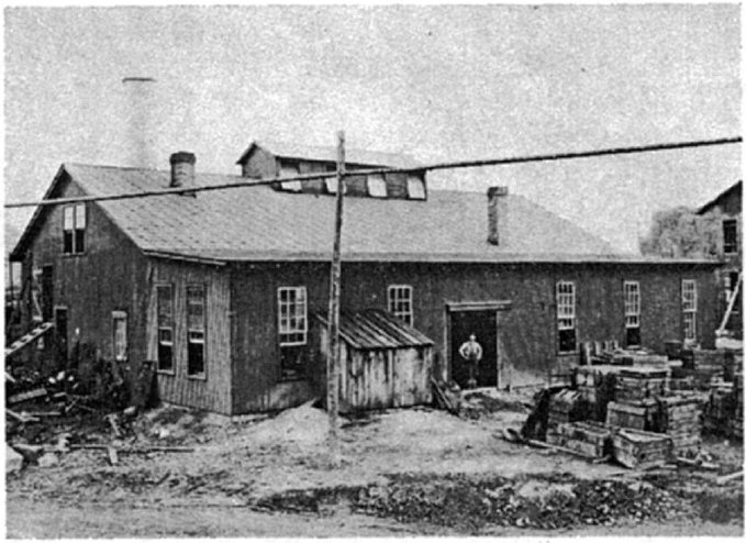 Figure 7. Photo of the original Crescent factory in 1898.