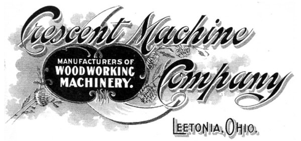 Fig. 1. Letterhead for stationery of the Crescent Machine Company. The stationery is among the many Crescent Machine Company items in the authors collection.