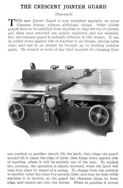 Crescent Jointer Guard Catalog Image