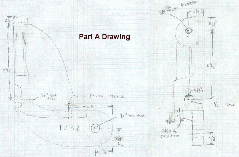 Crescent Jointer Guard Part A Drawing