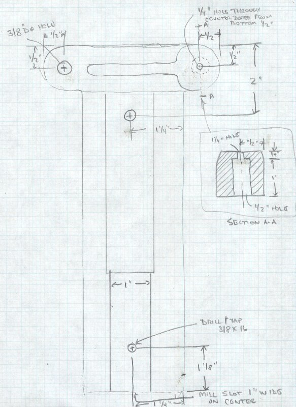 Crescent Jointer Guard Part C Drawing
