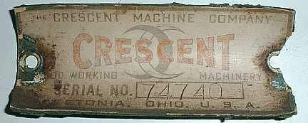 Also during this period (probably during WWII), Crescent used a tag made out of thick paste board - probably due to the shortage and rationing of metals during the war. Exact range of dates this tag was used is unknown but probably between 1942 and 1944. Below is a rare example of this tag as many have not survived due to them being made out of paper: