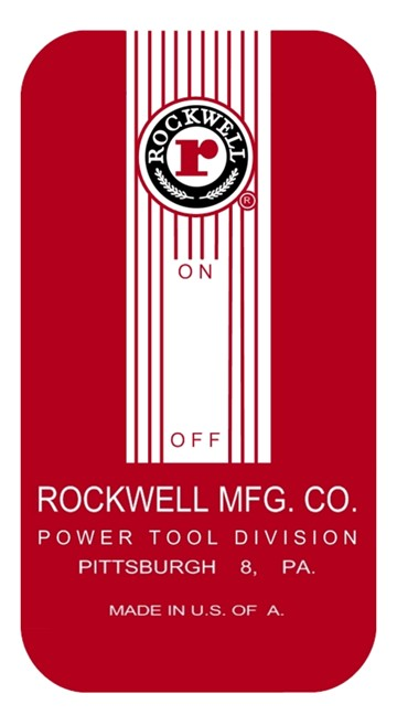 Rockwell Switch Plate Decal