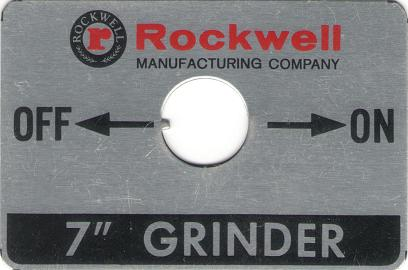 Delta Rockwell Grinder Switch Plate submitted by KJS