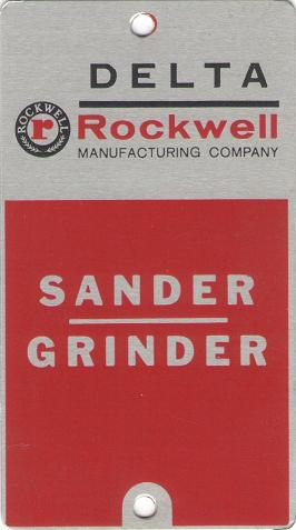 Delta Rockwell Sander/Grinder Plate submitted by KJS
