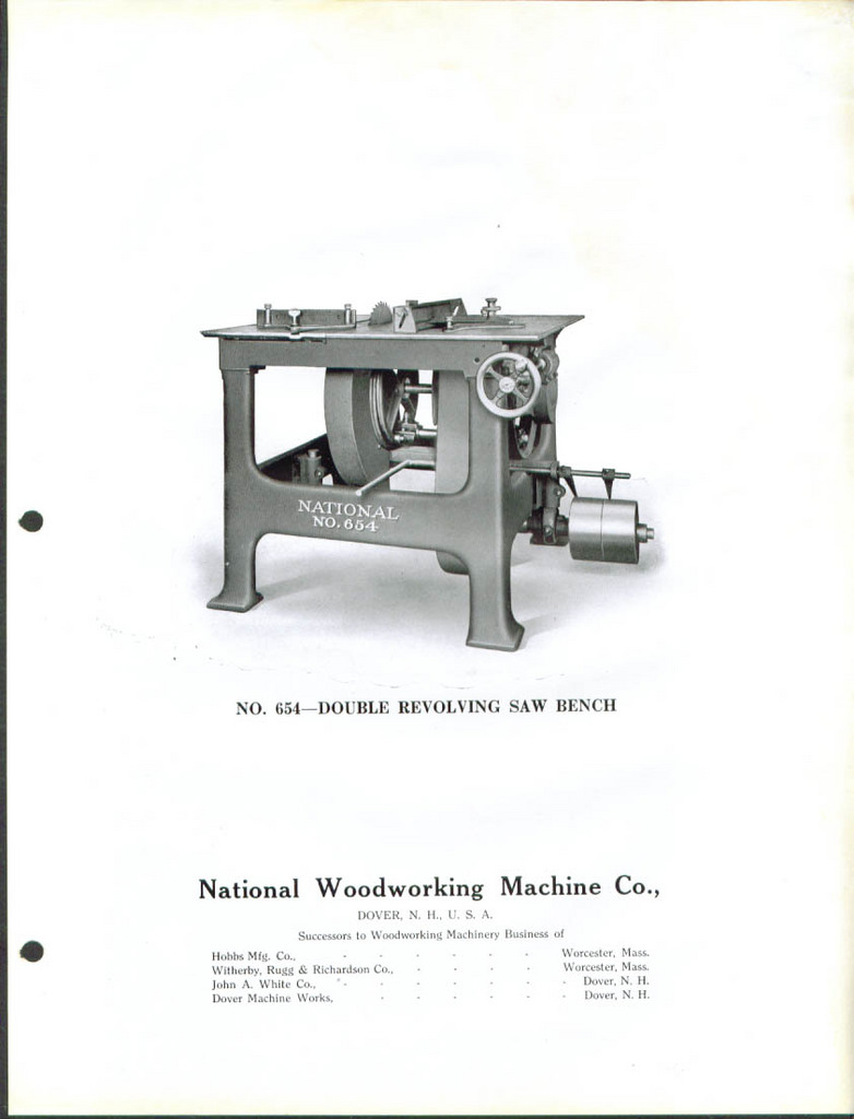 National Woodworking Machinery Model