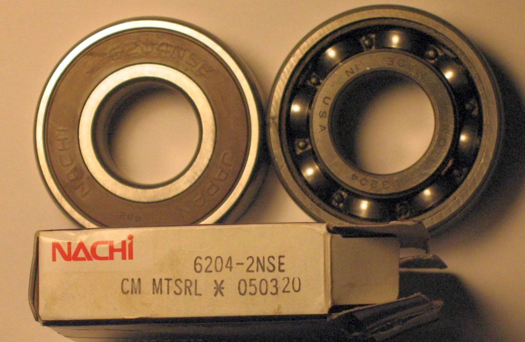 New Sealed Bearing and Original Open Bearing