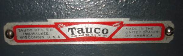 Tauco label attached to a scroll saw exported wholly from the USA.