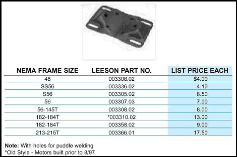 Leeson Bases- Many other mfg offer similar ones