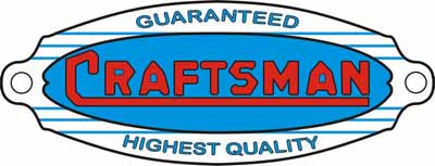 Craftsman label from our archive of machinery decals